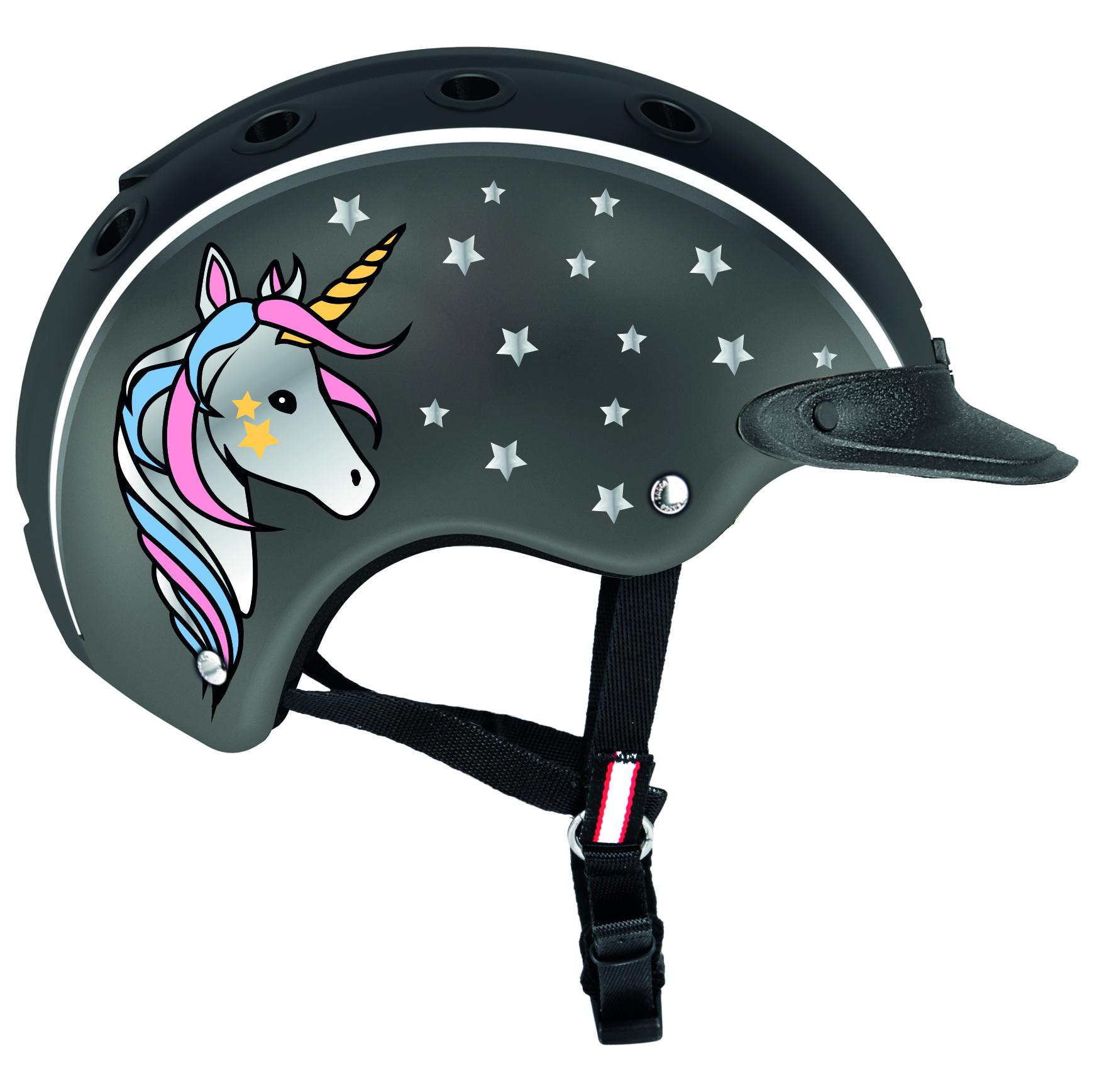 kask dziecięcy casco nori z jednorożcem
